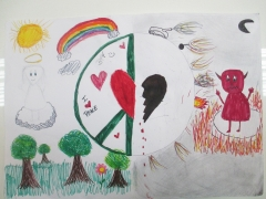 <h5>Peace for peace</h5><p>Peace for peace  /  Dila Tardu  /  Chartwell International School  /  Belgrade, Serbia </p>