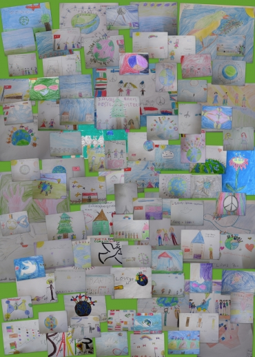 <h5>Lets draw for the world peace</h5><p>Lets draw for the world peace  /  Third grade   /  Calalletin Sayhan School  /  Adana, Turkey</p>