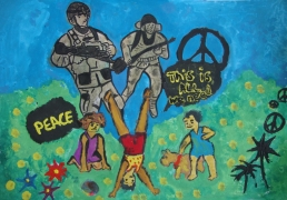 <h5>All we need is peace</h5><p>All we need is peace  /  Afrodita Sefkijovska  /  Goce Dolcev School Bitola  /  Bitola, Macedonia </p>